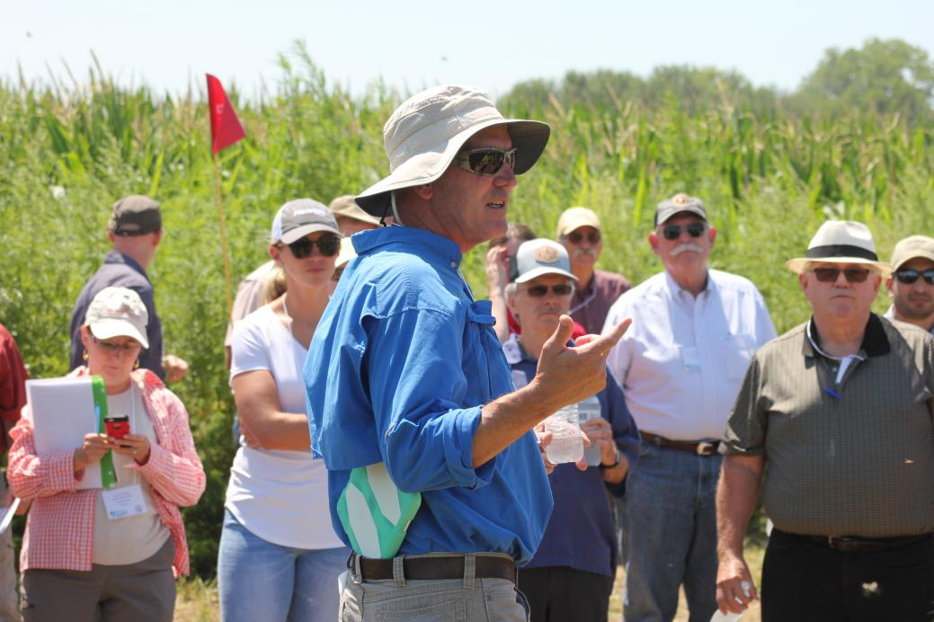tour of field trials with john swalwell from the harrison county pest resistance management project
