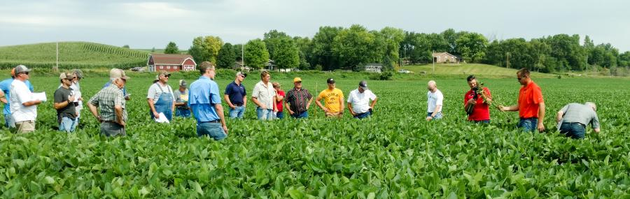 Weed resistance field day in soybean field 2018